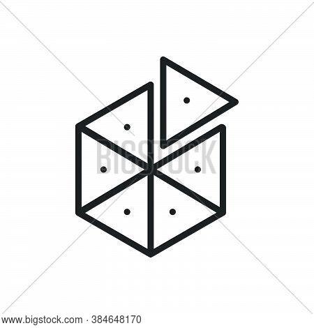 Black Line Icon For Piece Slice Object Division Partition Split