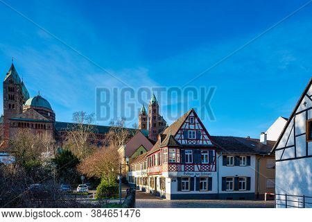 Speyer, Germany - Mar 15, 2020: Cathedral In Speyer, Germany. Officially Called The Imperial Cathedr