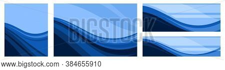 A Set Of Abstract Backgrounds In Different Proportions. Vector. For Banners, Packaging And Product L