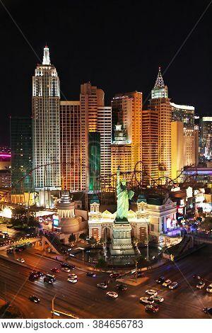 Las Vegas / United States - 06 Jul 2017: Las Vegas At Night, United States