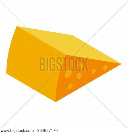 Parmesan Cheese Icon. Isometric Of Parmesan Cheese Vector Icon For Web Design Isolated On White Back