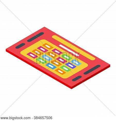 Scratch Ticket Lottery Icon. Isometric Of Scratch Ticket Lottery Vector Icon For Web Design Isolated