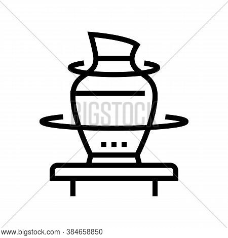 Pottering Leisure Time Line Icon Vector. Pottering Leisure Time Sign. Isolated Contour Symbol Black