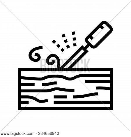 Carpentry Craft Line Icon Vector. Carpentry Craft Sign. Isolated Contour Symbol Black Illustration