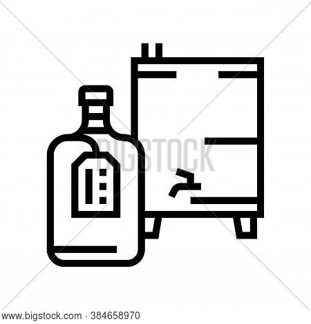 Homemade Alcohol Line Icon Vector. Homemade Alcohol Sign. Isolated Contour Symbol Black Illustration