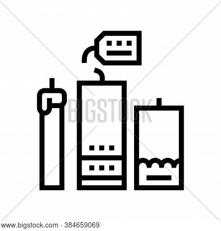 Homemade Candles Line Icon Vector. Homemade Candles Sign. Isolated Contour Symbol Black Illustration