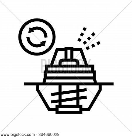 Thermostat Replacement Line Icon Vector. Thermostat Replacement Sign. Isolated Contour Symbol Black