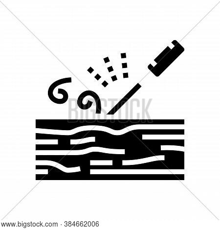 Carpentry Craft Glyph Icon Vector. Carpentry Craft Sign. Isolated Contour Symbol Black Illustration
