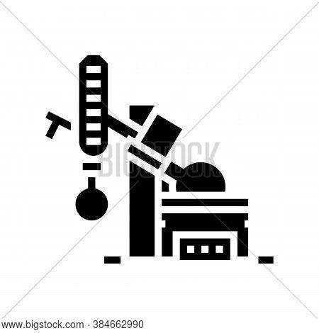 Vacuum Evaporator Glyph Icon Vector. Vacuum Evaporator Sign. Isolated Contour Symbol Black Illustrat