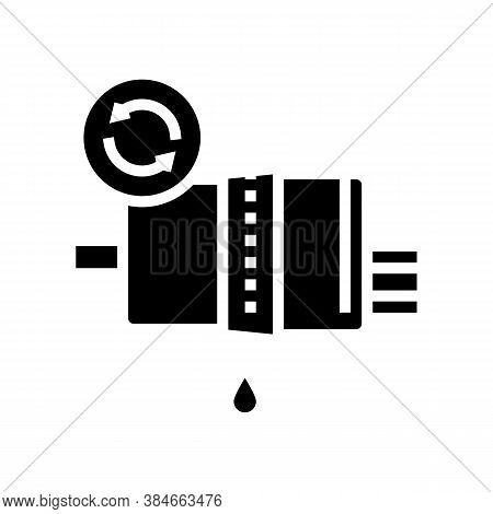 Fuel Filter Replacement Glyph Icon Vector. Fuel Filter Replacement Sign. Isolated Contour Symbol Bla