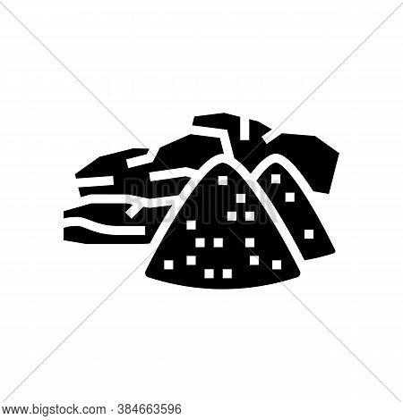 Sandalwood Aromatherapy Glyph Icon Vector. Sandalwood Aromatherapy Sign. Isolated Contour Symbol Bla