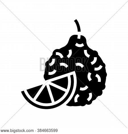 Bergamot Aromatherapy Glyph Icon Vector. Bergamot Aromatherapy Sign. Isolated Contour Symbol Black I