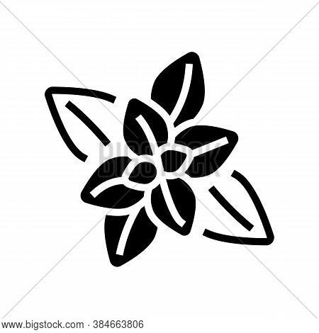 Peppermint Aromatherapy Glyph Icon Vector. Peppermint Aromatherapy Sign. Isolated Contour Symbol Bla