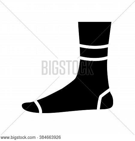 Quarter Sock Glyph Icon Vector. Quarter Sock Sign. Isolated Contour Symbol Black Illustration