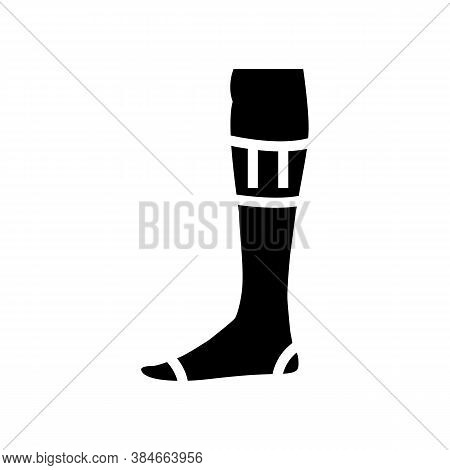 Over Calf Sock Glyph Icon Vector. Over Calf Sock Sign. Isolated Contour Symbol Black Illustration