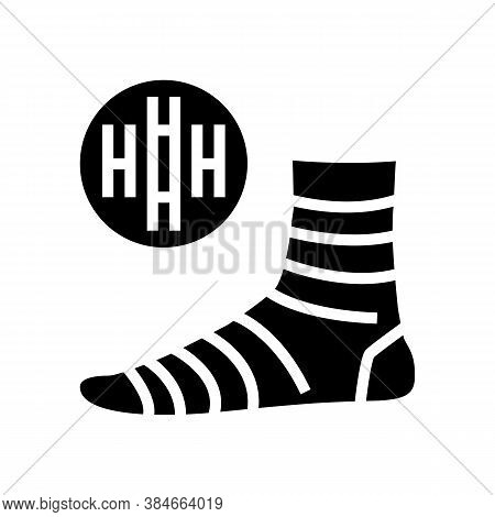 Bamboo Material Sock Glyph Icon Vector. Bamboo Material Sock Sign. Isolated Contour Symbol Black Ill