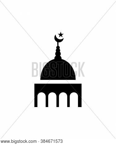 Mosque Icon,worship Place Of Islam,vector Best Flat Icon.