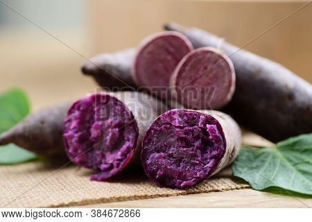 Purple Sweet Potatoes Ready To Eating, Healthy Food