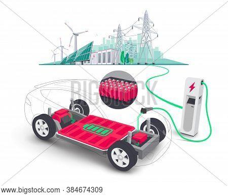 Electric Car Modular Platform Board Charging Battery Pack Rechargeable Cells Inside. Electric Skateb