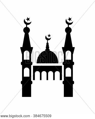 Mosque Icon,muslim Worship Place,vector Best Flat Icon.