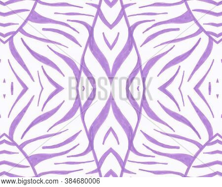Tribal Background. Fashion Animal Banner. Psychedelic Cheetah Stripes. African Fabric Design. Seamle