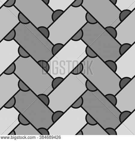 Abstract. Repeated Figures Background. Slabs Tessellation. Seamless Surface Pattern Design With Slan