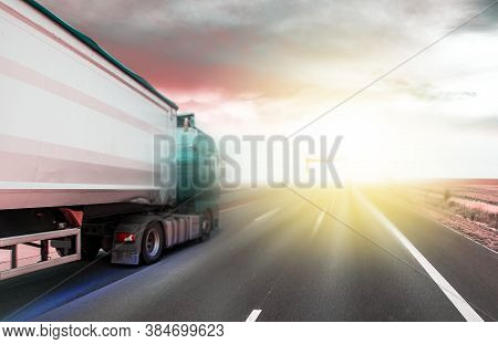 Heavy Trucks On The Roads Of Europe,