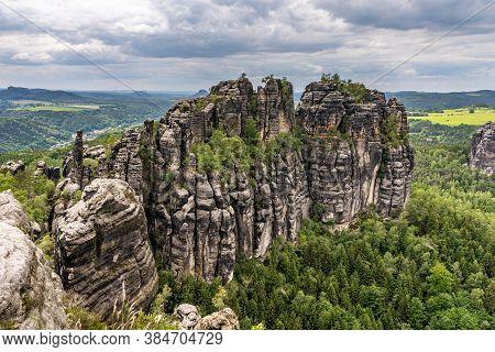 Schrammsteine In Saxon Switzerland, Germany
