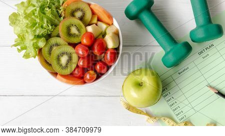Nutrition Start Up Workout And Diet Health Plan.  Sport Exercise Equipment Workout Andgym With Nutr