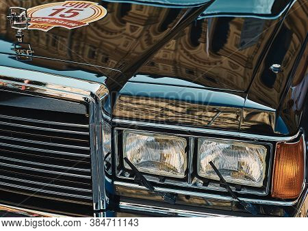 Moscow, Russia - July 26, 2014: Fragment Of Zil 41047 Executive Class Limousine, Vintage Car Race Go