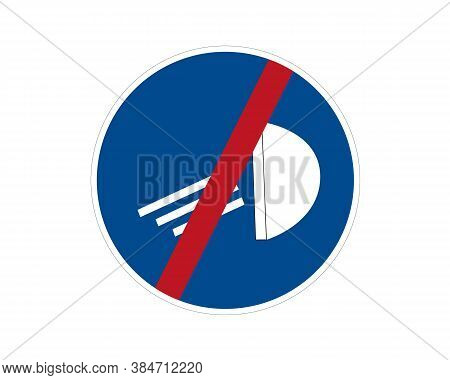 Road Sign, Stopping Mandatory Lighting, Vector Icon