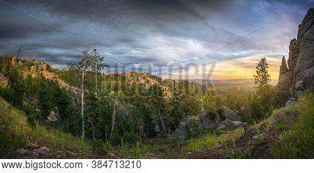 Colorful South Dakota Sunrise In Custer State Park