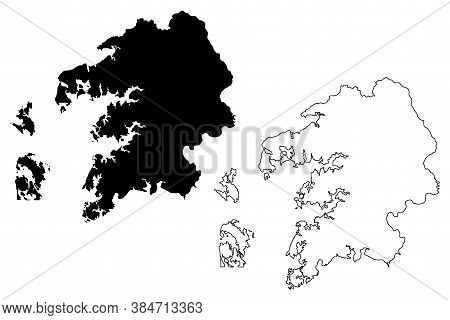 Somerset County, Maryland (u.s. County, United States Of America, Usa, U.s., Us) Map Vector Illustra