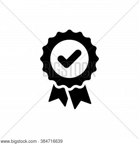 Approved Check Icon. Approval Quality Certificate Vector Symbol. Vector Eps10