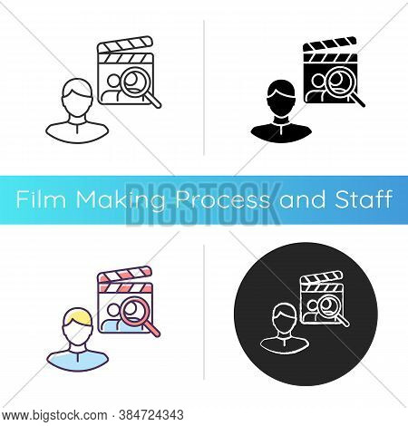 Casting Director Icon. Producer For Filmmaking. Cinema Production Personnel. Hire Crew For Theater.