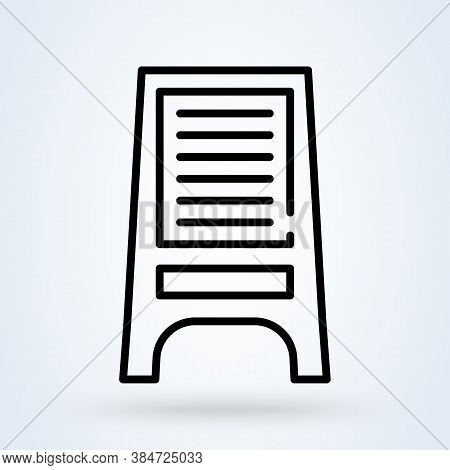 Billboard Icon In Flat Style. Citylight Display Vector Illustration On White Isolated Background. Ba