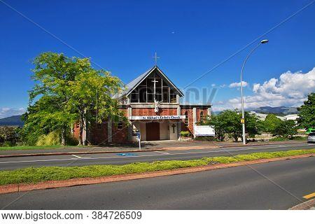 Rotorua / New Zealand - 17 Dec 2018: Church In Rotorua, New Zealand