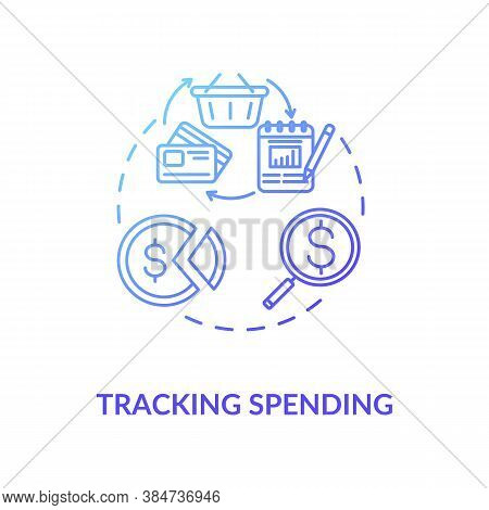 Tracking Spending Concept Icon. Money Manangement Business Advices. Budget Multiplying Tips. Financi