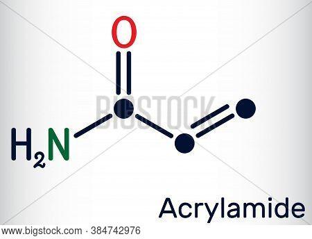 Acrylamide, Acr, Acrylic Amide Molecule. It Is As A Precursor To Polyacrylamides. Skeletal Chemical