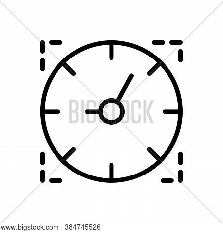Black Line Icon For Time Period Duration Countdown Hour Timer Alarm Time-is-running