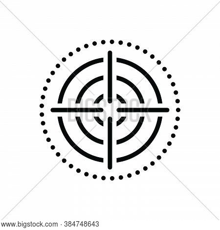 Black Line Icon For Focus Target Goal Objective Viewfinder Strategy Dartboard Accuracy