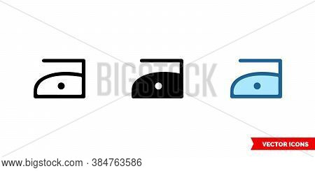 Iron Maximum Temperature 110c Icon Of 3 Types Color, Black And White, Outline. Isolated Vector Sign