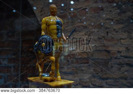 Gdansk, North Poland - August 13, 2020: A Demonstrative Artificial Model Of Hybrid Human With A Shap