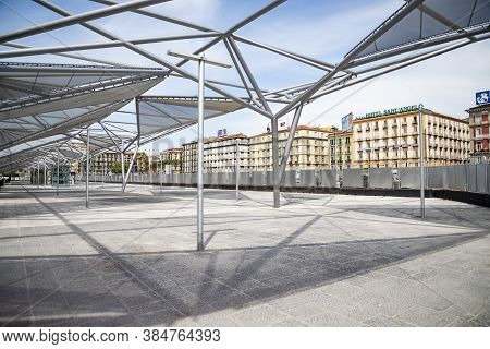 Naples, Italy - March 30, 2017: The New Central Station Railroad In Naples On March 30. 2017 In Ital