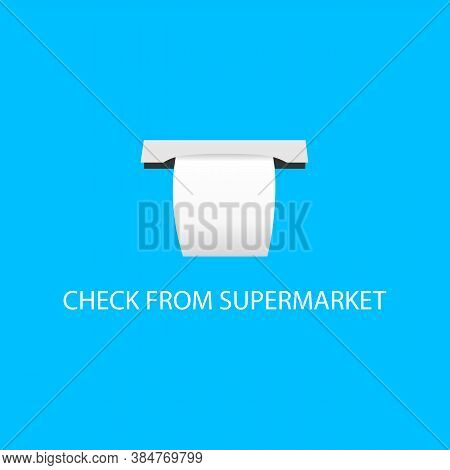 Icon Of Check From Supermarket. Vector Illustration Eps 10