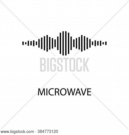 Icon Of Black Sign Micro Wave. Vector Illustration Eps 10