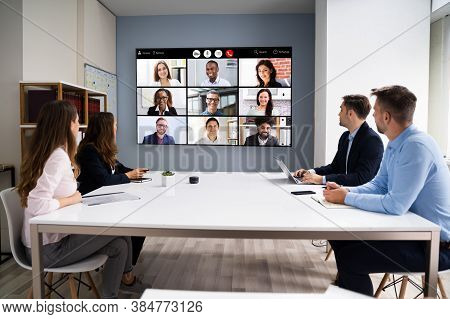 Online Video Conference Social Distancing Webinar Business Meeting