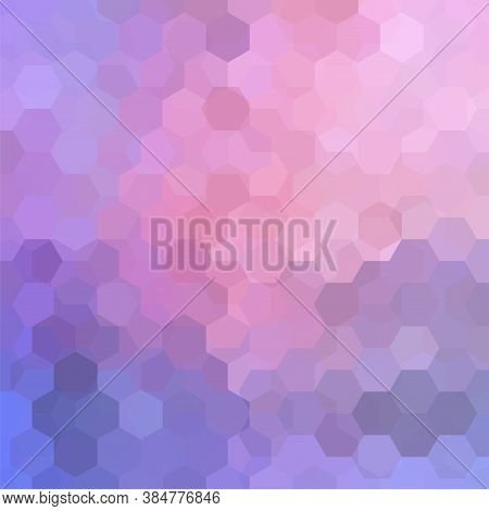 Vector Background With Pink, Purple Hexagons. Can Be Used In Cover Design, Book Design, Website Back