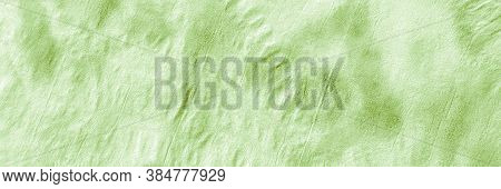 Ikad Pattern. Green Grass Tie Dye Background. Abstract Water Color. Ink Dirty Paper. Ogee Pattern. G