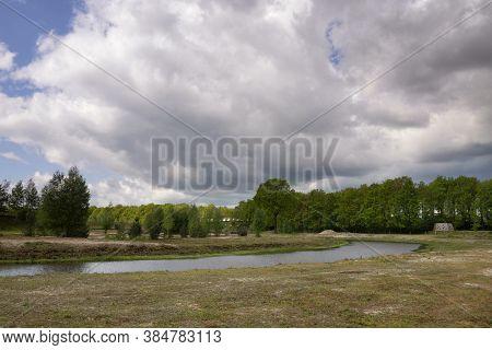 The Doorbraak Is A Newly Dug Stream In The Dutch Region Twente Between The Bornse Beek And The River